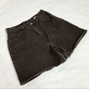 Vintage black Levi's denim shorts